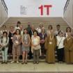 Robyn Daw (centre), ICOM conference, Milan.